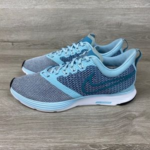 Nike Shoes - Nike Zoom Strike Light Blue Running Shoes Size 8.5